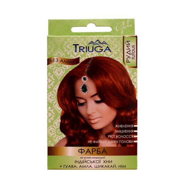 Краска на основе натуральной хны Рыжий. Краска на основе натуральной хны Триюга. Краска на основе натуральной хны Triuga. Натуральная краска для волос.